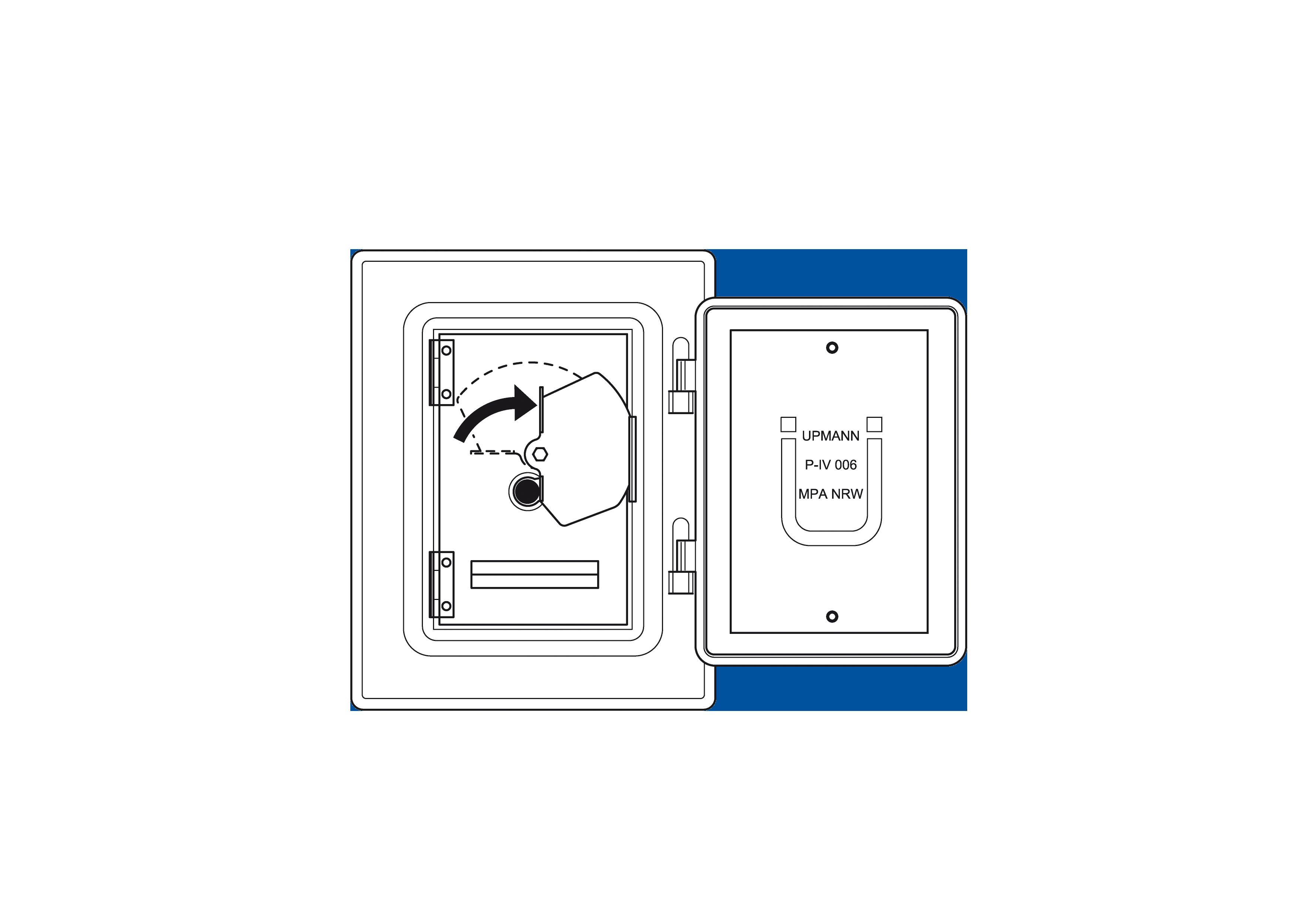 Schoorsteendeur van roestvrijstaal 300 mm x 140 mm met roetbescherming en kliksluiting voor Technovis EW-FU