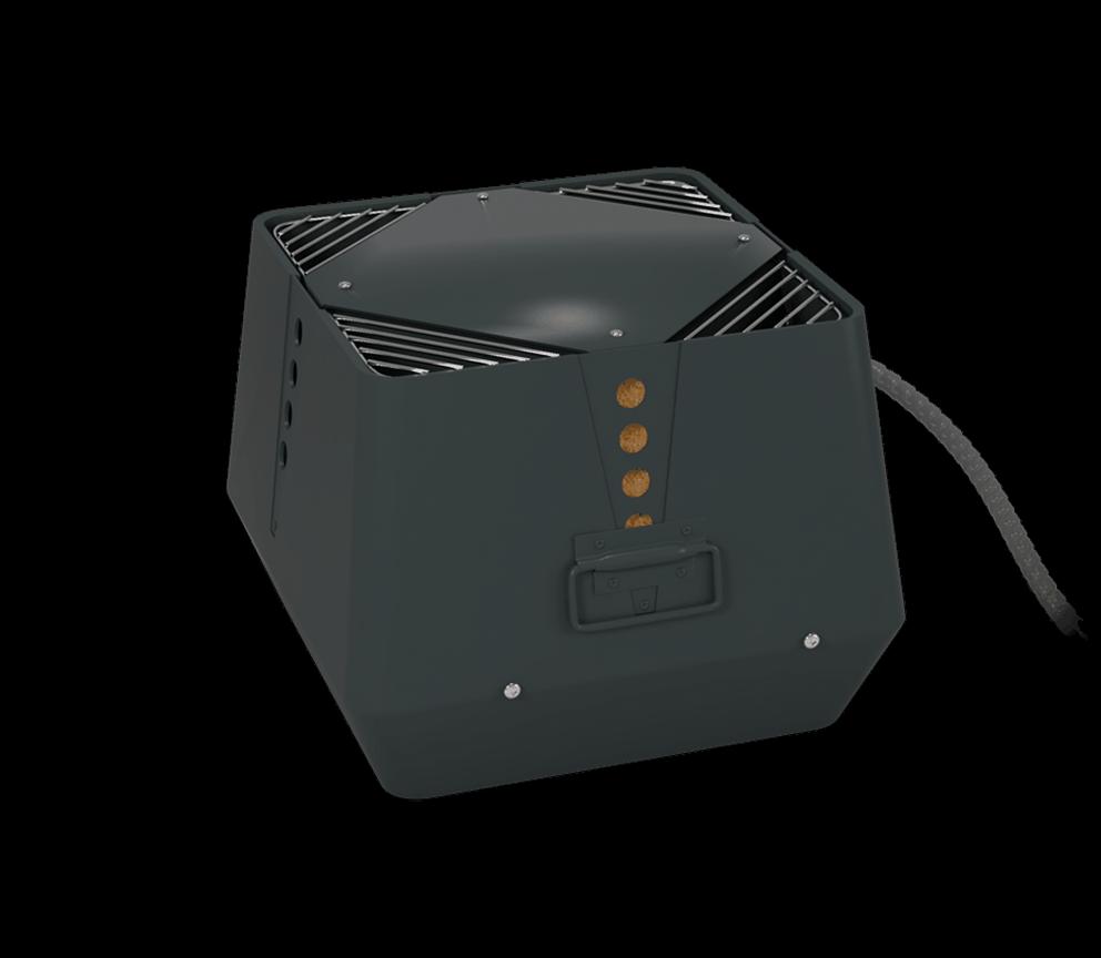 Rookgasventilator- verticale uitblaas – Exodraft