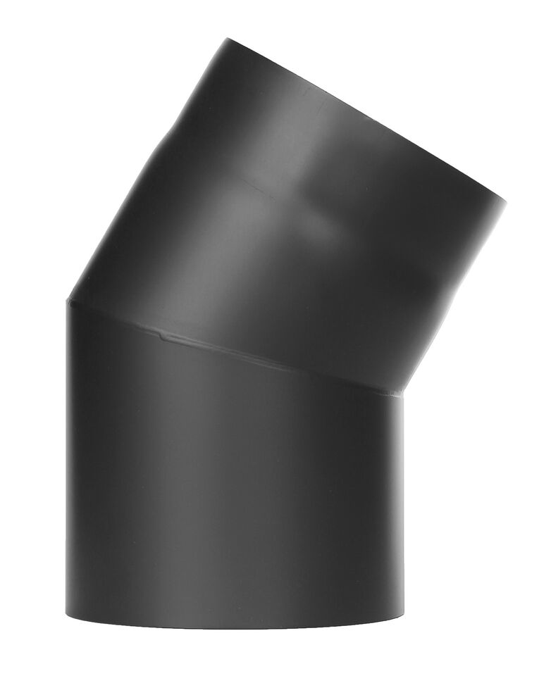 Kachelpijp - bocht 30 ° zonder inspectiedeur zwart - Jeremias Ferro-Lux