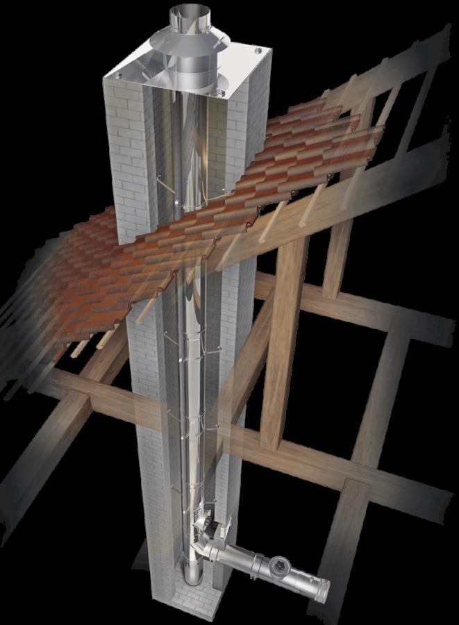 Schoorsteenrenovatie enkelwandig Ø 113 mm - Schräder Future EW