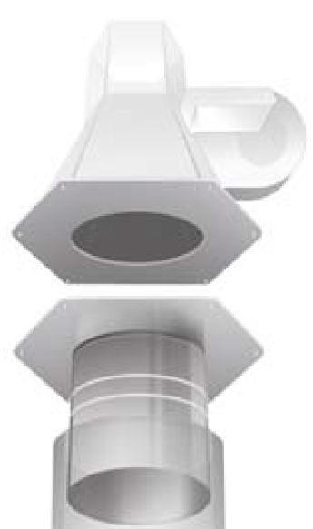 Rookgasventilator Adapter RSG 180/... / RSG 225/... - Kutzner & Weber