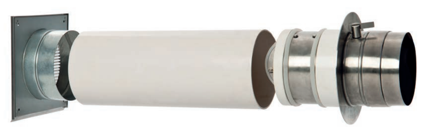 Handbediende dubbele rookgasklep LKH voor Externe luchttoevoer - CB-tec
