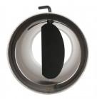 FERRO1415 Winkelrohr schwarz  mit Tür und Drosselklappe