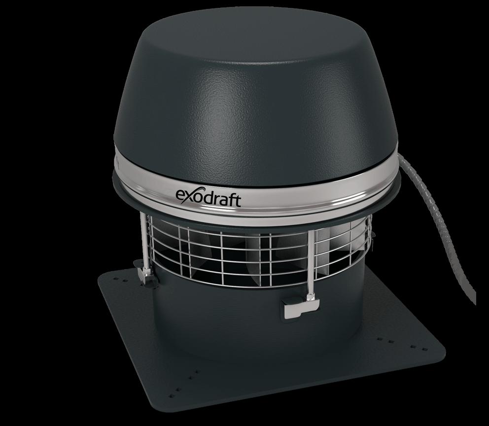 Rookgasventilator - horizontale uitblaas, bestendig tegen hoge temperaturen – Exodraft
