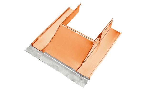 Koperen schoorsteenafdekking, onderkant, grootte 1, 32-55 – Grömo