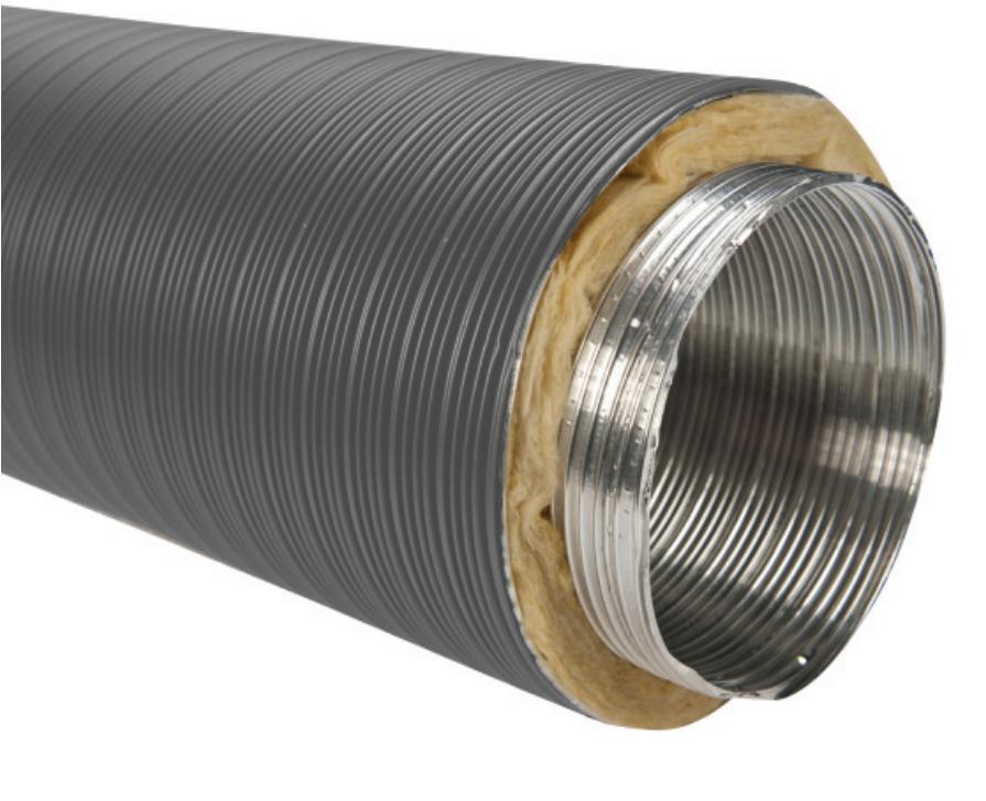 Aluminium Flexibel Rookkanaal  - CB-tec