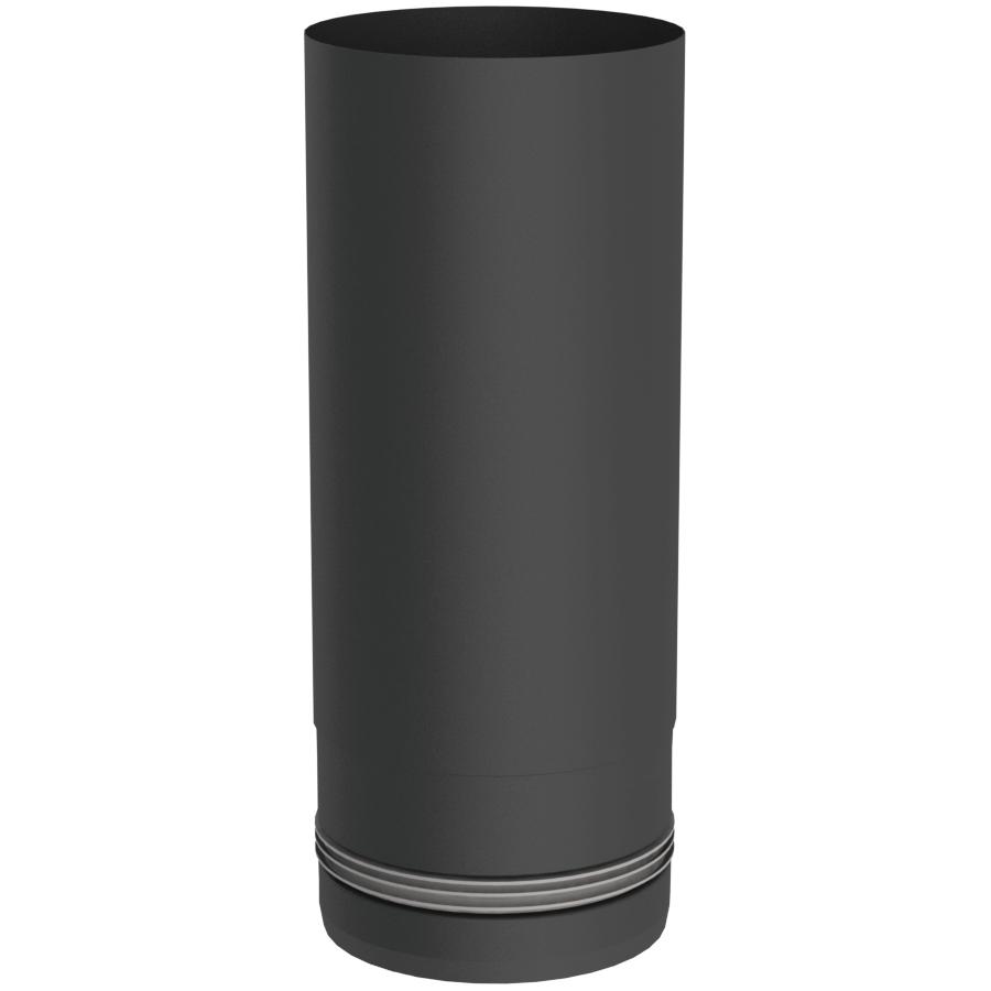 Rookkanaal Pelletkachel - Lengte-element 250 mm - zwartgeverfd - Tecnovis TEC-Pellet