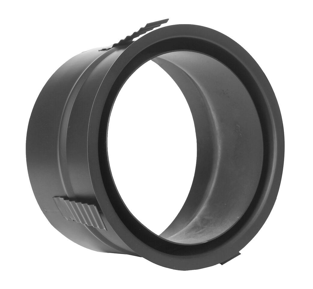 Kachelpijp - Muurdoorvoer met centreerveer zwart - Jeremias Ferro-Lux