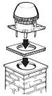 Rookgasventilator- horizontale uitblaas – Exodraft
