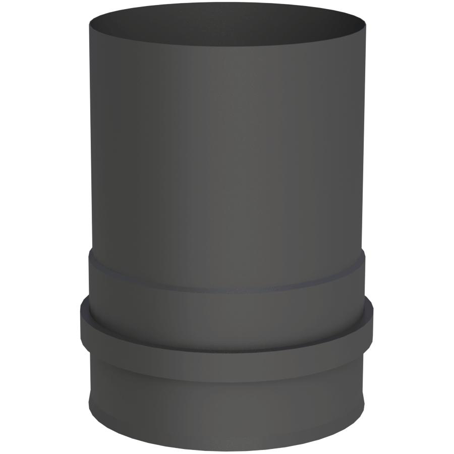Rookkanaal Pelletkachel - Ketelaansluiting met dubbele schroefverbinding zwartgeverfd - Tecnovis TEC-Pellet