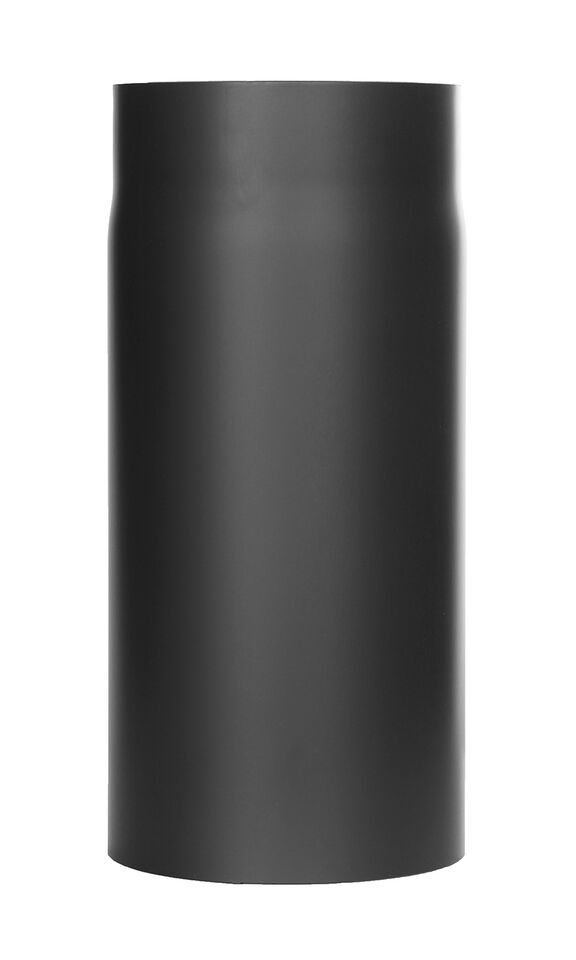Kachelpijp -Lengte element 330 mm zwart - Tecnovis Tec-Stahl