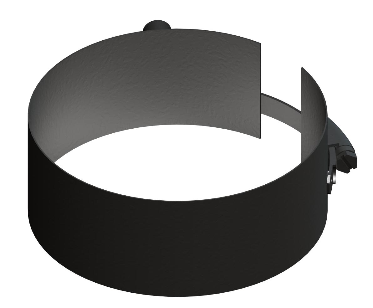 Rookkanaal Pelletkachel - Verstelbare bevestigingsklem - zwart - Tecnovis Pellet-Line
