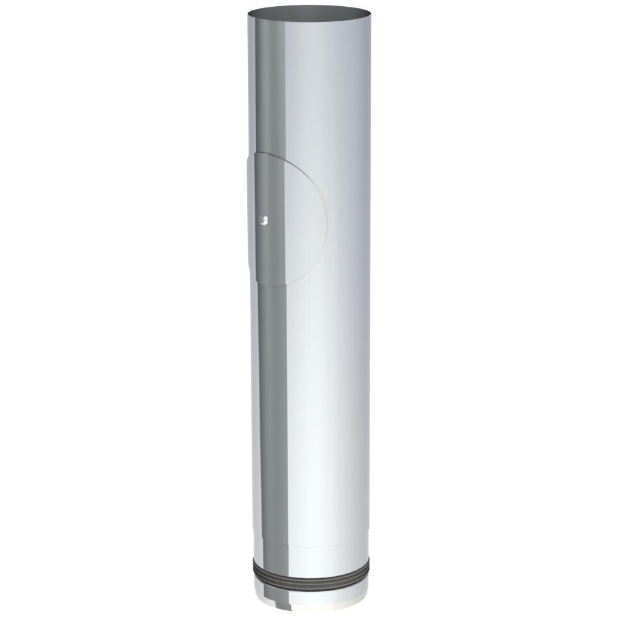 Rookkanaal Pelletkachel - Lengte-element 500 mm met onderhoudsluik - ongelakt - Tecnovis TEC-Pellet