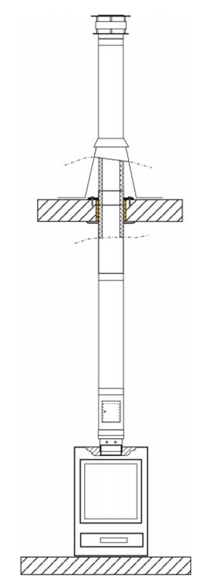 Rookkanaal bouwpakket opzetstuk TEC-DW-DESIGN met Ø 150 mm