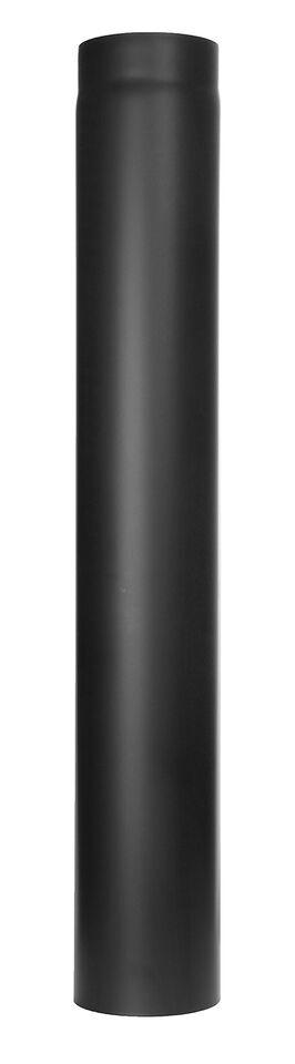 Kachelpijp -Lengte element 1000 mm zwart - Tecnovis Tec-Stahl