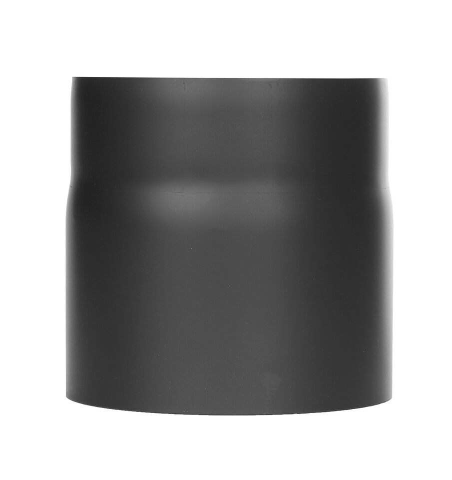 Kachelpijp - lengte element 150 mm met condensaat ring zwart Jeremias Ferro-Lux