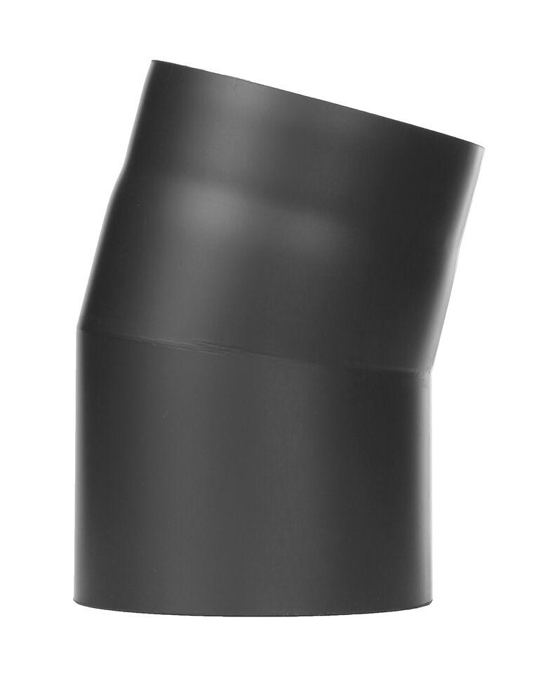 Kachelpijp - bocht 15 ° zonder inspectiedeur zwart - Jeremias Ferro-Lux