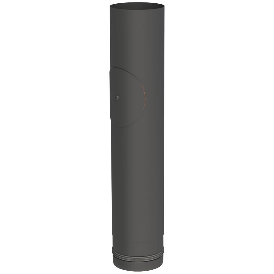 Rookkanaal Pelletkachel - Lengte-element 500 mm met onderhoudsluik - zwart - Tecnovis TEC-Pellet
