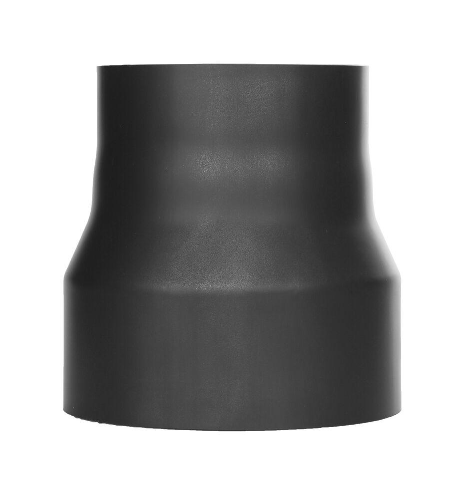 Kachelpijp - Reductie zwart gelakte afwerking - Jeremias Ferro-Lux