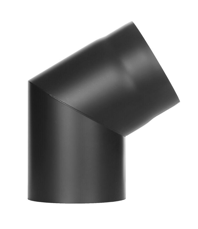 Kachelpijp - bocht 60 ° zonder inspectiedeur zwart - Jeremias Ferro-Lux
