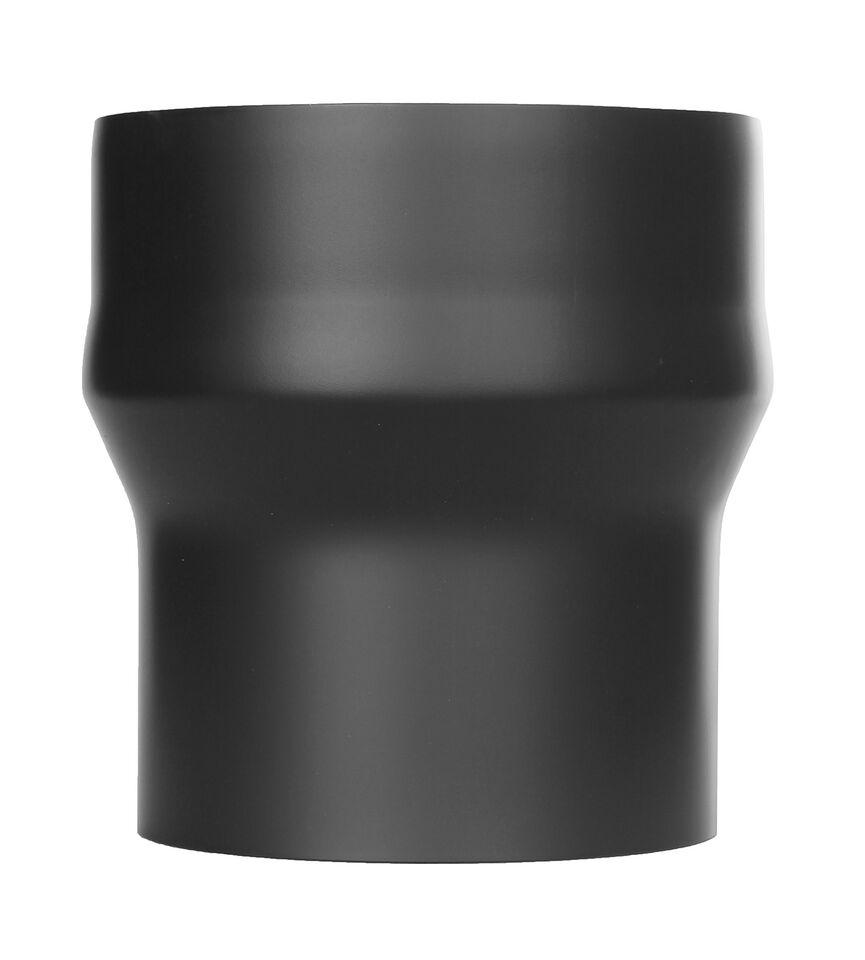 Kachelpijp - Aansluiting m/v zwart geverfd - Jeremias Ferro-Lux