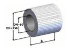 Muur-, plafond- en dakdoorvoer 500 mm - Tecnovis LUX-ECO