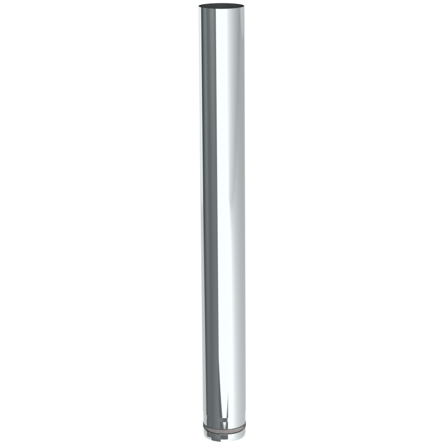 Rookkanaal Pelletkachel - Lengte-element 1000 mm - ongelakt - Tecnovis TEC-Pellet