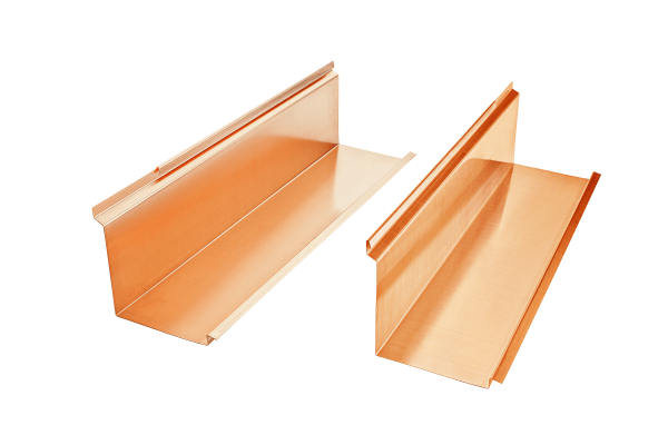 Koperen verlenging voor schoorsteenafdekking (1 paar) – Grömo