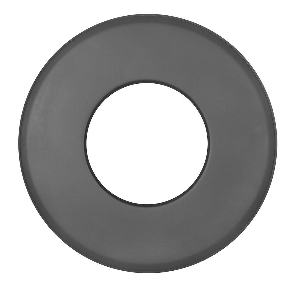 Kachelpijp wandrozet 85 mm zwart -Tecnovis Tec-Stahl